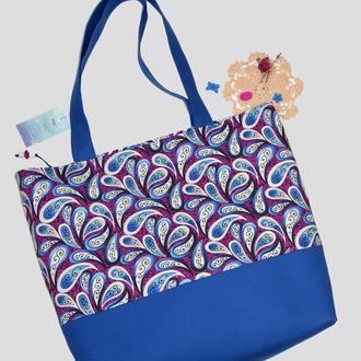 Текстильная сумка Сапфир
