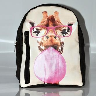 Рюкзак большой с принтом