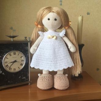 Вязаная кукла амигуруми «Соня»