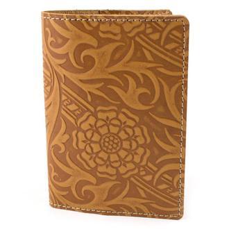 Кожаная обложка на паспорт Амелия (светло-коричневая)