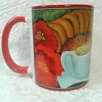 """Чашка-кружка с авторской миниатюрной картиной """"Доброе утро!"""""""