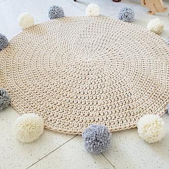 Коврик вязаный (хлопок) диаметр 100 см