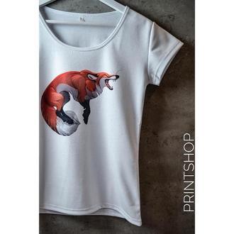 Женская футболка с печатным принтом