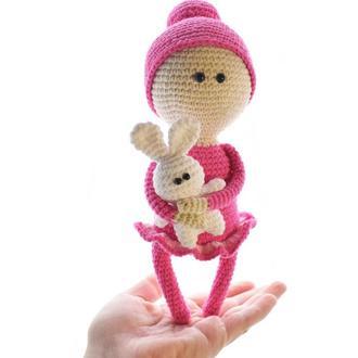 Вязаная куколка,подарок новорожденному,подарок девочке,интерьерная игрушка,украшение для дома.