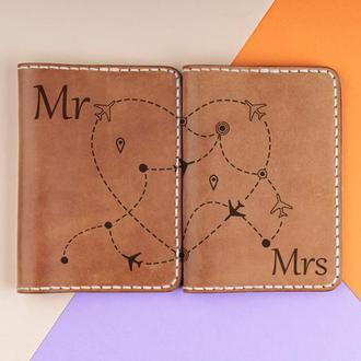 Парные обложки на паспорта. Подарок на день влюбленных
