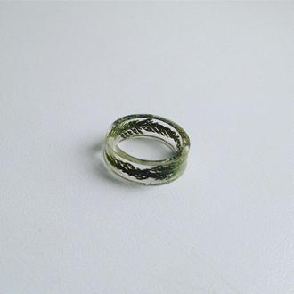 Кольцо из Эпоксидной смолы и сухоцветами
