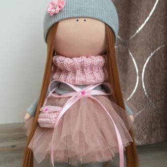 Кукла текстильная пудра