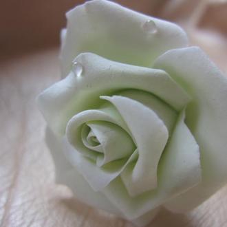 Заколка или шпилька - роза. Японская полимерная глина. Разные цвета