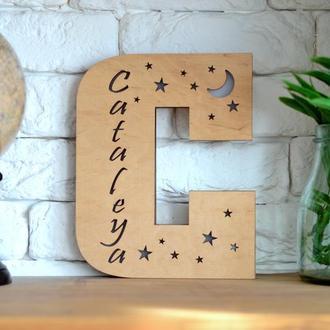 Детский ночник-буква с именем - Cataleya