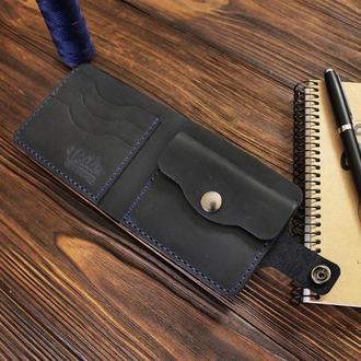 Мужской кожаный кошелек VOILE vl-cw1-blu