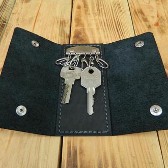 Кожаная карманная ключница, Кожаный футляр для ключей
