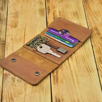 Кошелек для карточек и ключей, ключница на 6 ключей