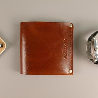 Компактное портмоне / кошелек натуральная кожа. Гаманець