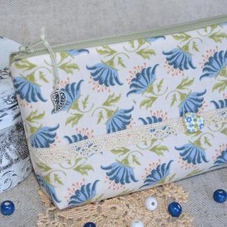 Косметичка Хризантемы синие