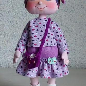 Авторская текстильная кукла Арина.