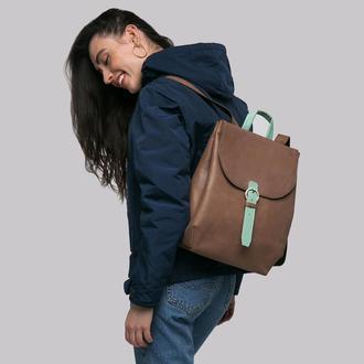"""Шкіряний рюкзак для 13"""" ноутбука"""