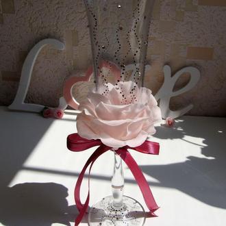 «Лепестки роз» свадебные бокалы