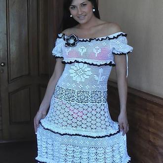 Платье (связано крючком )