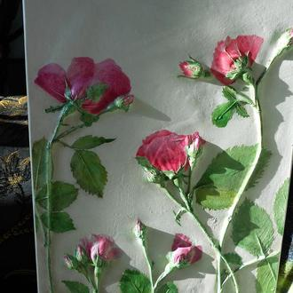 Панно (картина) Розовые розы