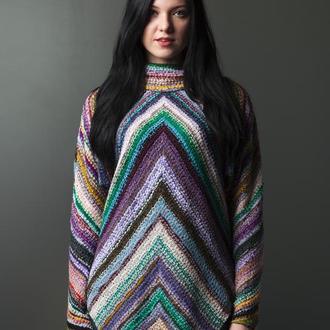 Вязаный свитер - туника