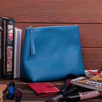 Большая кожаная косметичка Travel bag