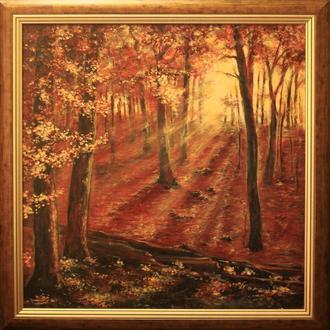 Картина маслом на холсте Осенний закат