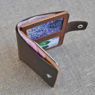 Вертикальный кошелек для денег и документов из натуральной кожи D06-450+210