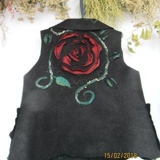 Жилет авторский 3D Розы
