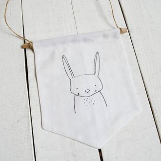 Настенный баннер декор для дома: Зайчик