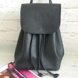 Рюкзак из натуральной кожи флотар. Цвет черный