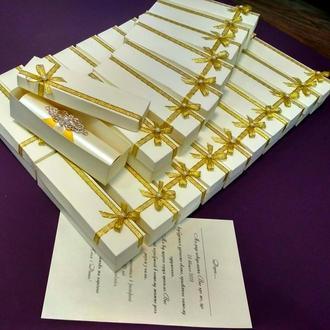 Приглашение айвори & золото