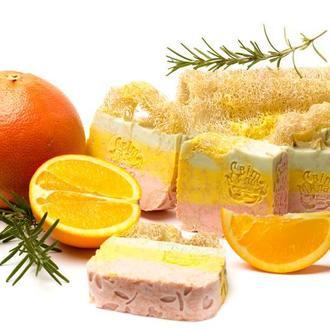 """Масажне мило """"Розмарин-Грейфрут-Апельсин"""" від Світ Мила"""