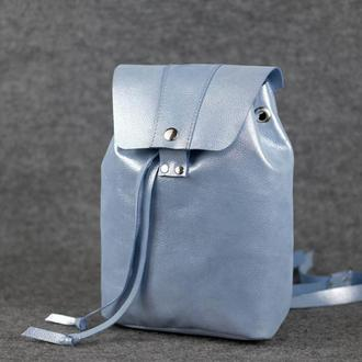 Женский рюкзак на затяжках с кнопкой  11944  Голубой