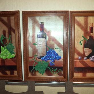 Картины Винная коллекция: Каберне, Молинара, Мускат