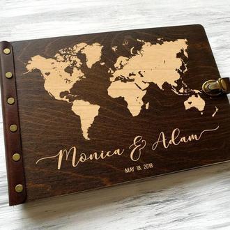 """Книга пожеланий для свадьбы """"Мир путешествий"""""""