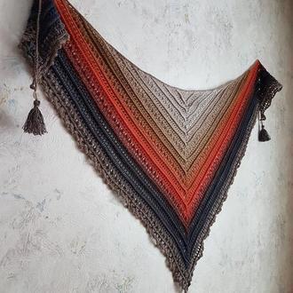 Современная стильная шаль бактус платок из голландского полухлопка, ручная работа