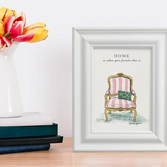 """Картина на холсте в раме """"Chair"""""""