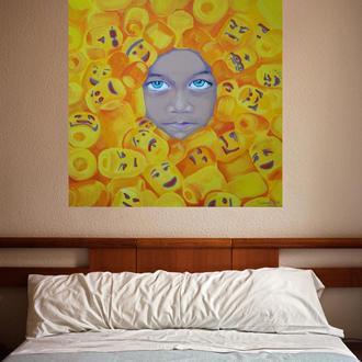 Картина Девочка Лего
