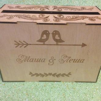 Свадебная коробка для конвертов