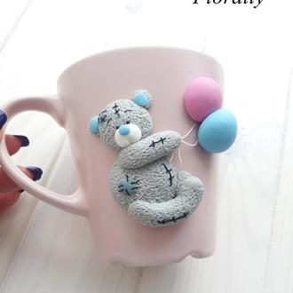 """Чашка """"Мишка Тедди с шариками"""""""