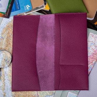 Кожаный кошелек Travel wallet
