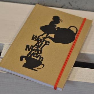 "Скетчбук, блокнот, тетрадь для рисования и заметок "" Alice in the Wonderland"""