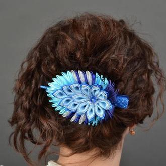 "Заколка для волос ""Перо павлина"""