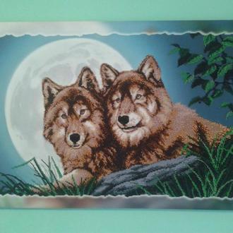 Картина вышитая бисером на подрамнике