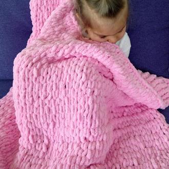 Детский плед для малыша. Вязаный плед. Одеялко для ребенка