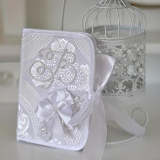 Конвертик для первого локона малышей Обрядовый с вышивкой бисером