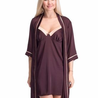Комплект женский ночная рубашка-халат. Авторский пошив.