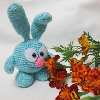 Мягкая игрушка вязаный смешарик Крош герой мультфильма
