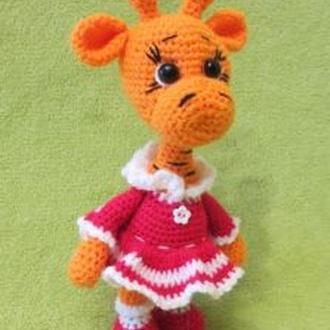 Мягкая игрушка вязаный жираф