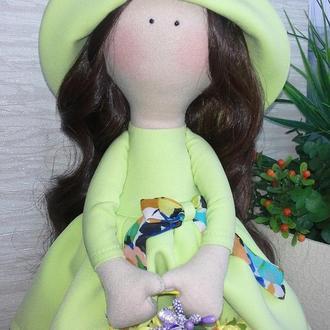 """Интерьерная текстильная кукла """"Весна"""""""